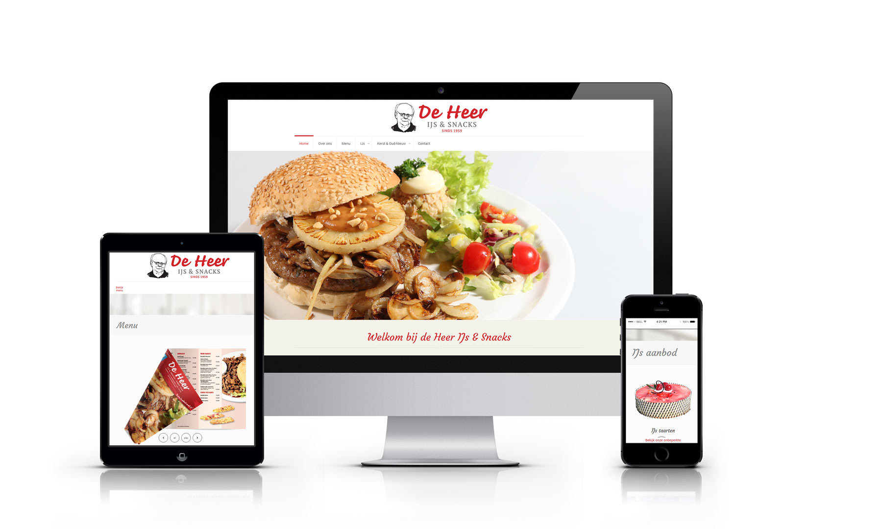 Website de Heer IJs & Snacks Winterswijk